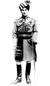 C. R. D. Gray wearing the Skinner's Horse full dress uniform